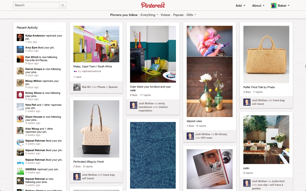 6 things pinterest can teach you about effective web design for Blueprint websites