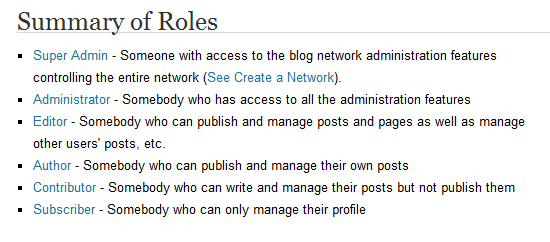 Roles and Capabilities in WordPress