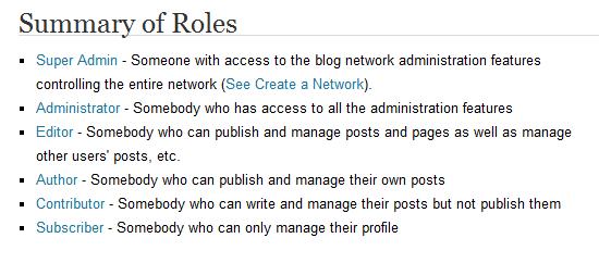 Roles and Capabilities in WordPress