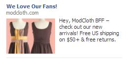modcloth ad love