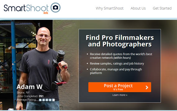Smartshoot Home Page