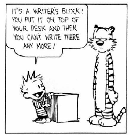 Writer's block essay