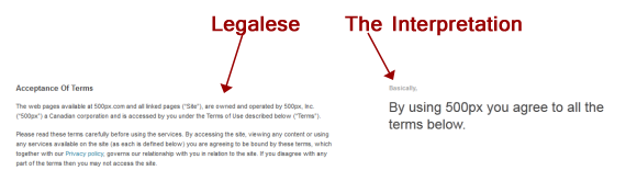 how to read terms of service