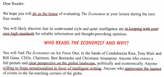 the economist style is traditional