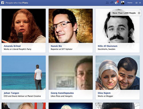 Facebook Graph Search screenshot