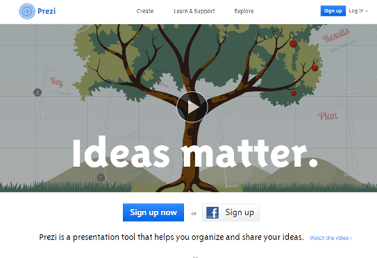 Websites for presentations