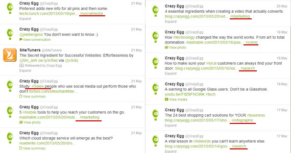 CrazyEgg Tweets