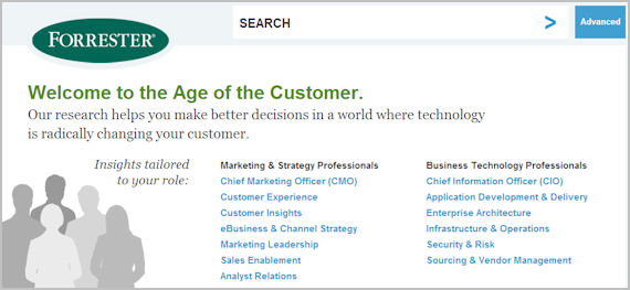 Forrester home page