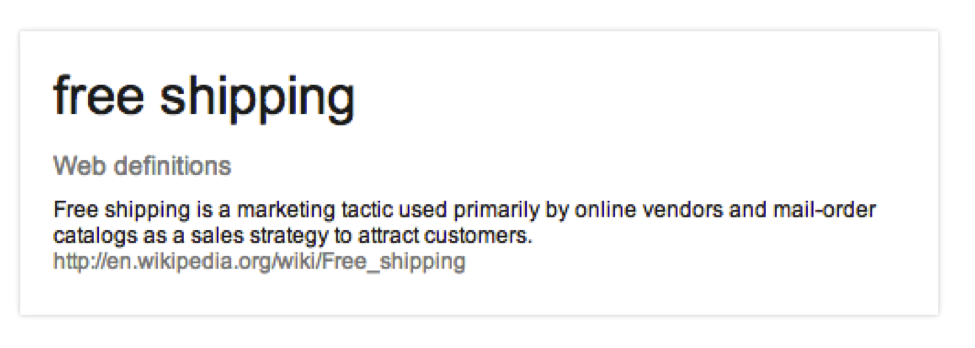 Wikipedia free shipping definition