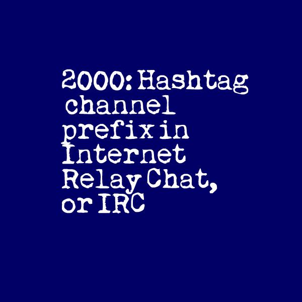 IRC hashtag