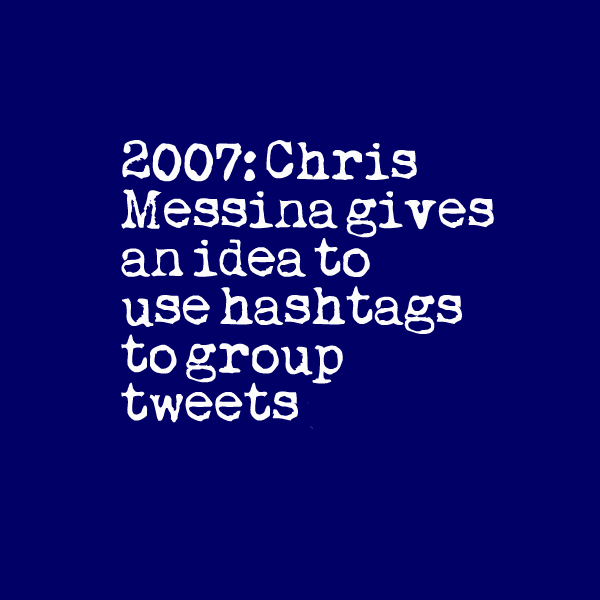 Hashtags on Twitter