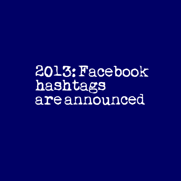 Hastags on Facebook