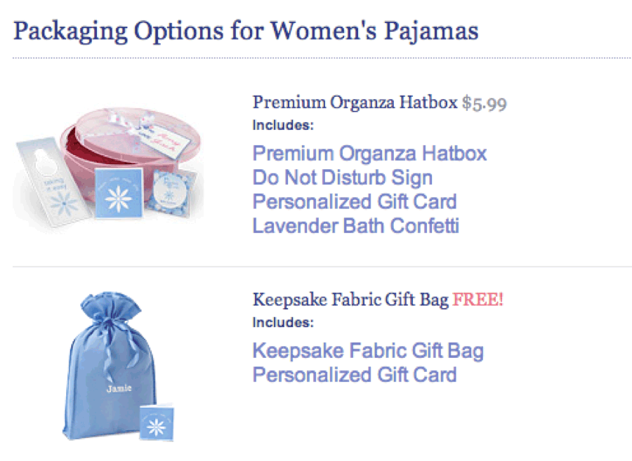 pajama packing options