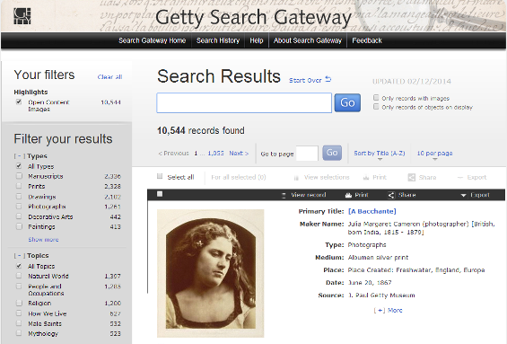 getty search gateway