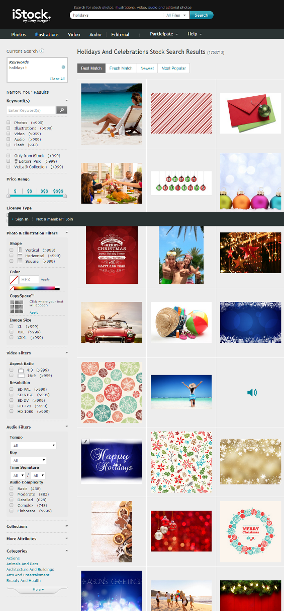 istock image search