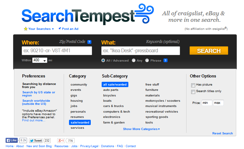 webdesigner search tempest