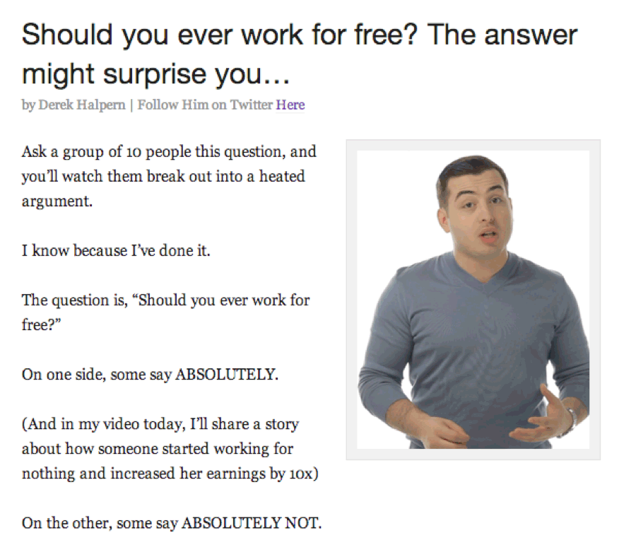 Should you ever work for free?