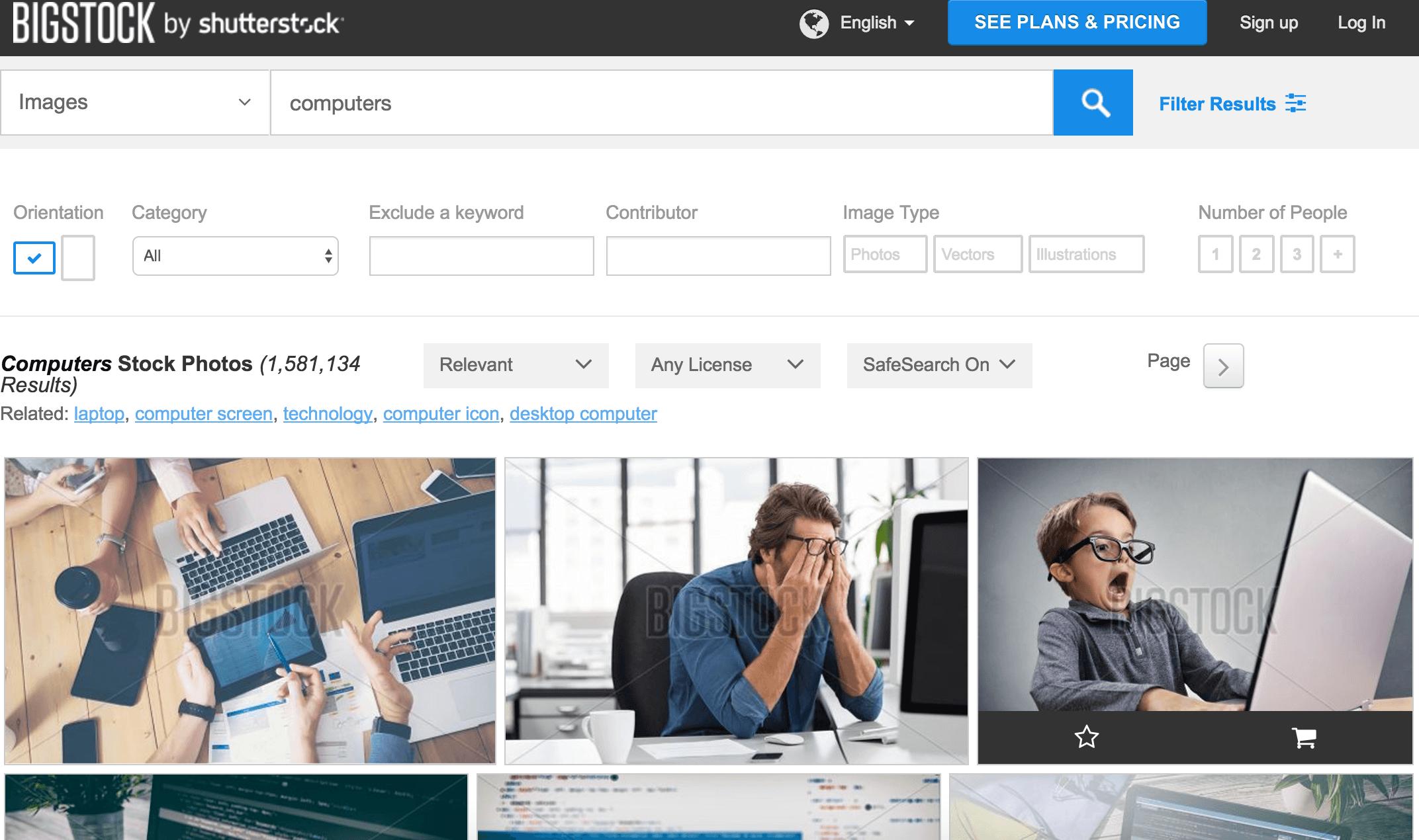 BigStock Search
