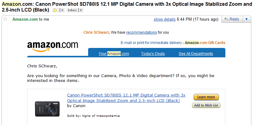 3 tactics you can implement today for higher email open rates for Camera email