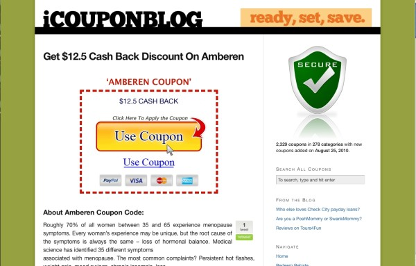 coupon blog before