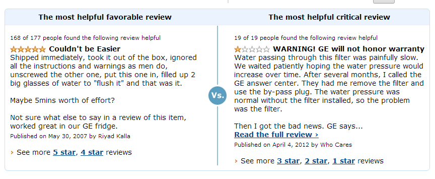 amazon critical reviews