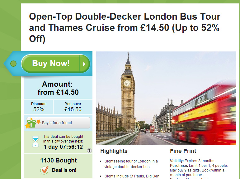 Groupon Loss Aversion