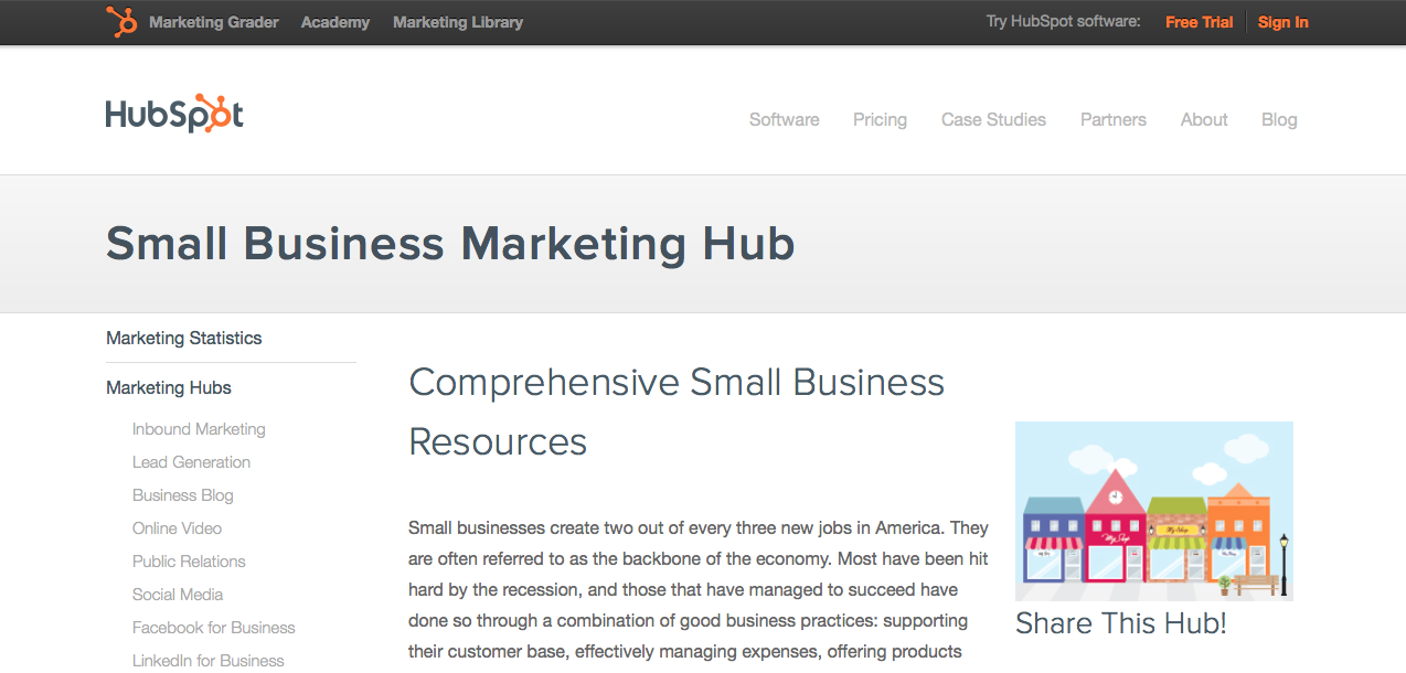 small business landing page, personalized landing page