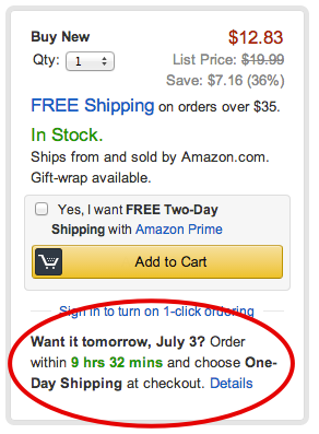 Amazon add to cart