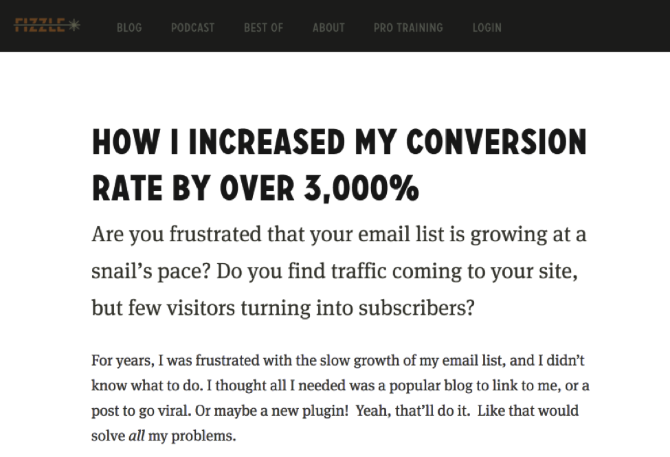 How I increased my conversion rates by  over 3000%