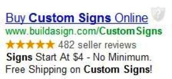 Google will display a star rating