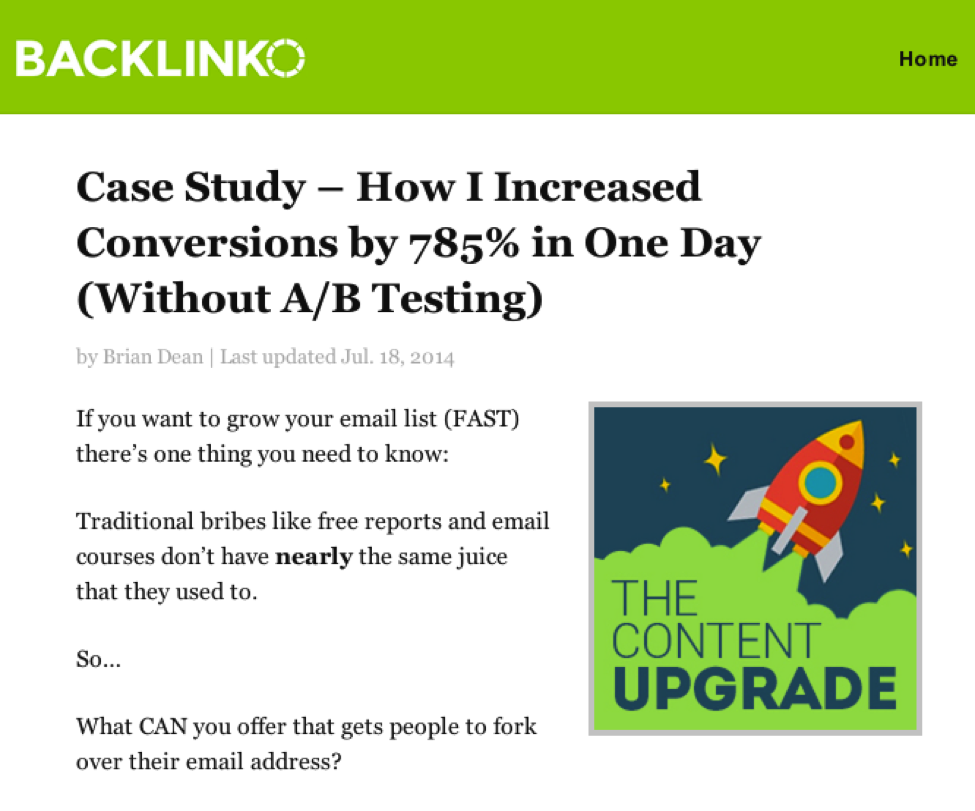 How I increase conversions by 785%