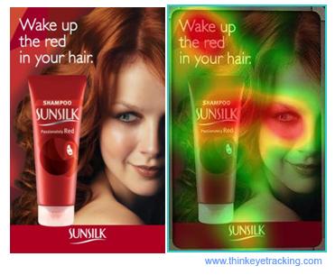 shampoo eye tracking ad