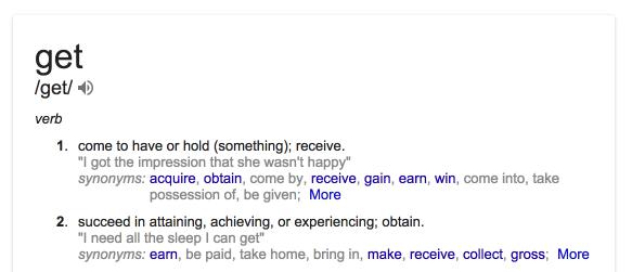 get definition