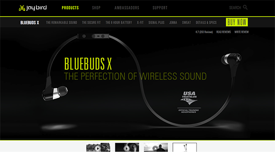 Jaybird purchase page