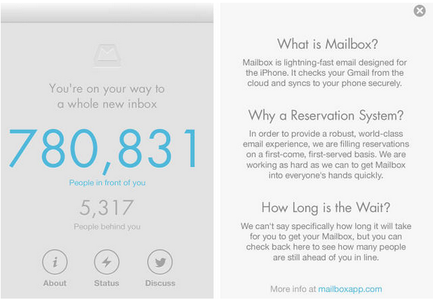 mailbox using exclusivity