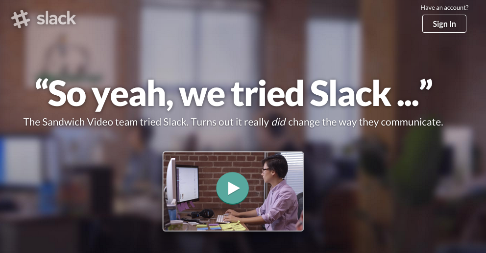 slack's social proof video