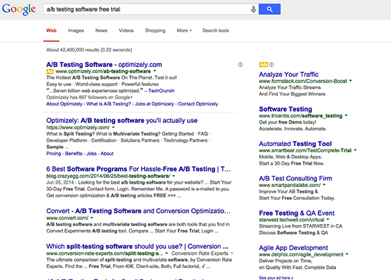 ab testingt software free trial