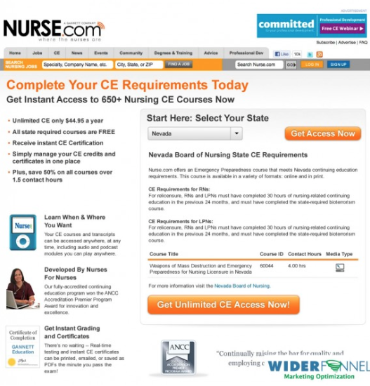 nurse.com after crazyegg