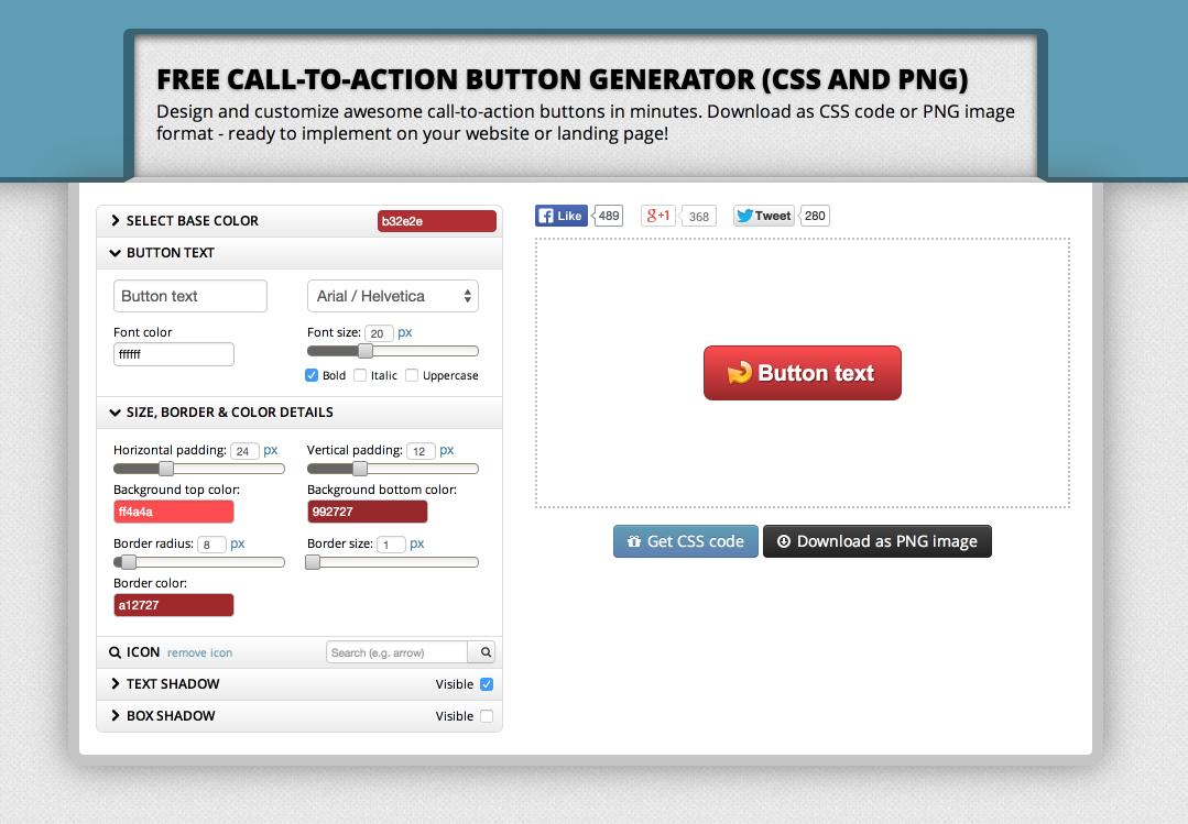 free cta button generator