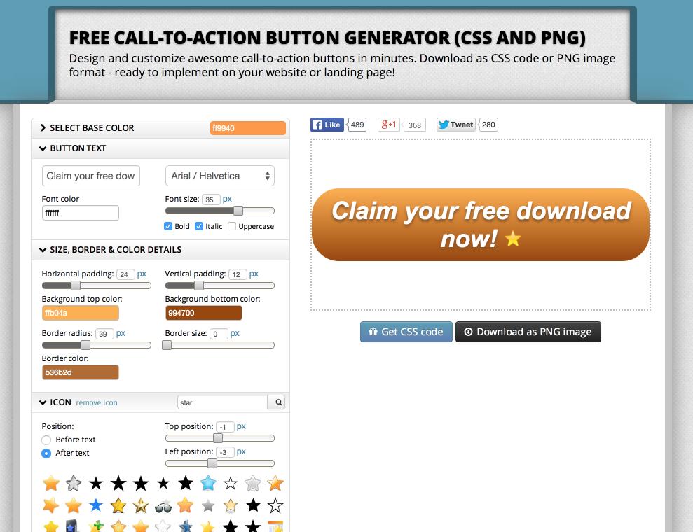 free cta button generator 2