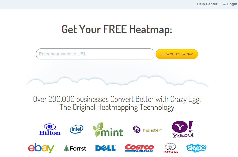 crazy egg homepage