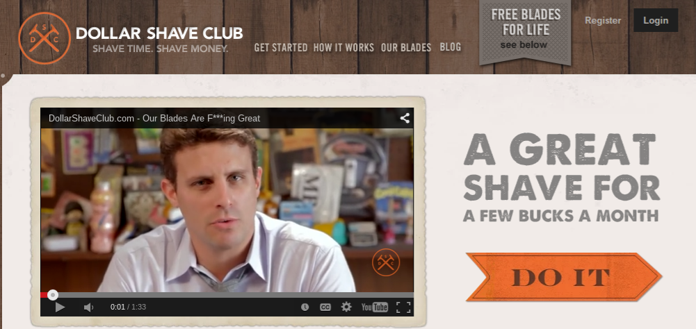 emotion in marketing: Dollar Shave Club Story