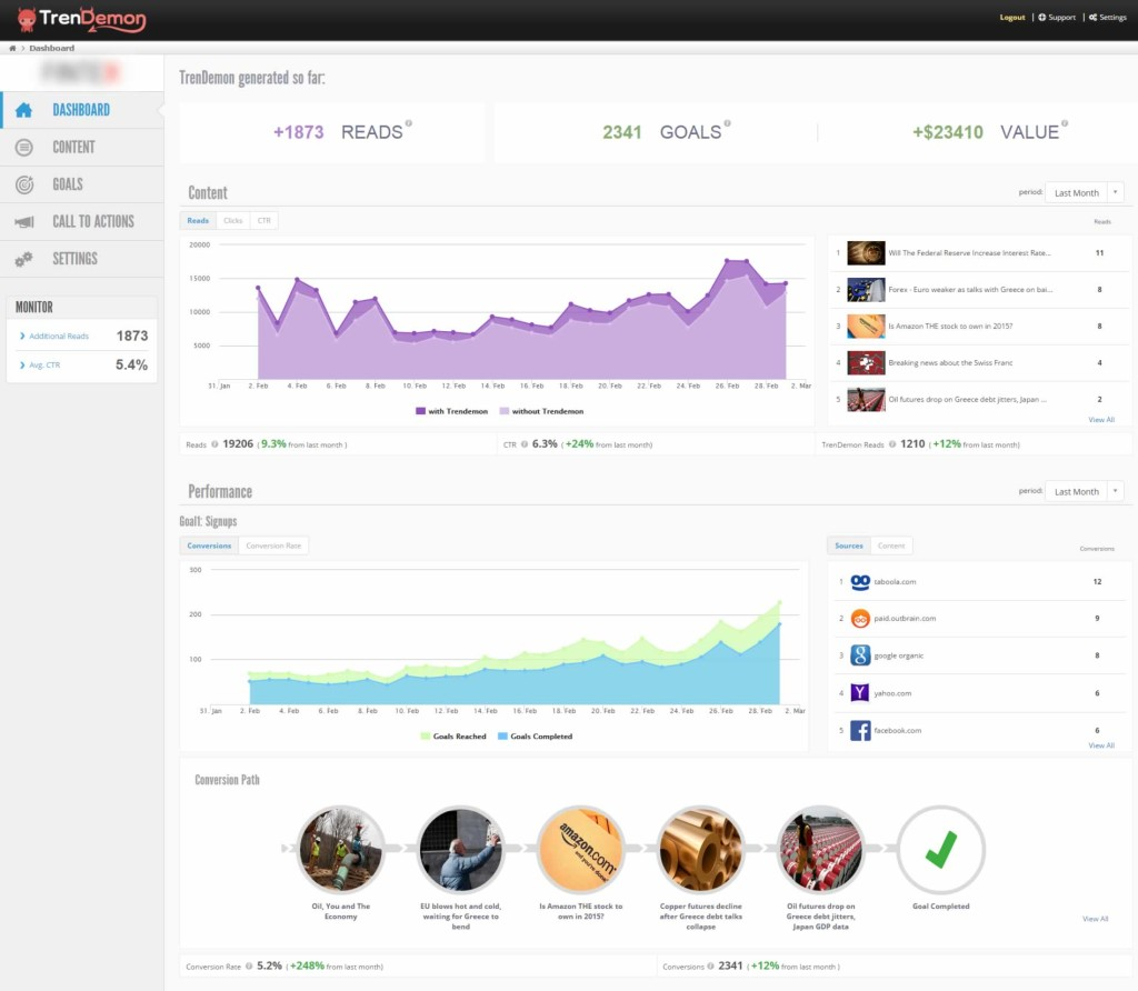 TrenDemon Dashboard