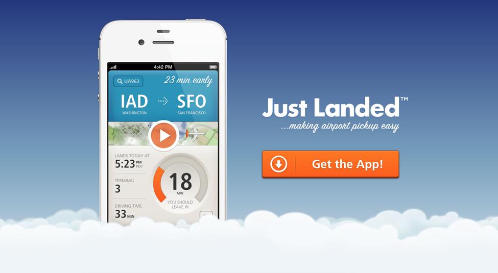 just landed app
