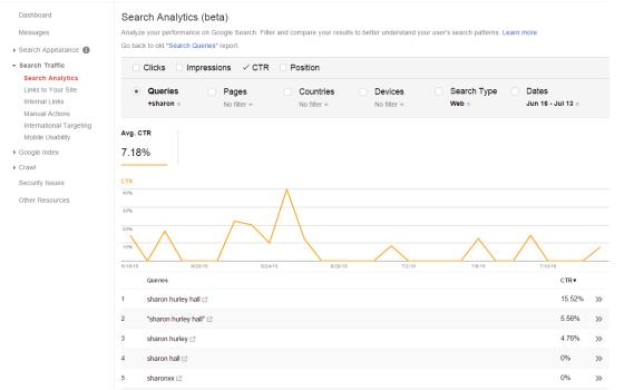 Navigatiezoekopdracht - google search console