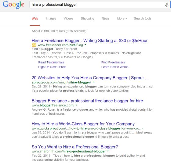 huur een professionele blogger Google Zoeken