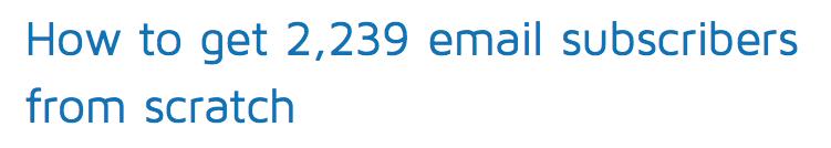 email subs headline