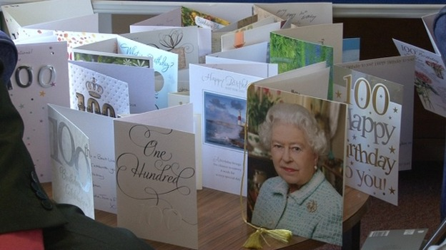 queen 100th birthday card
