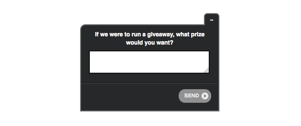 survey your existing customers for prize data