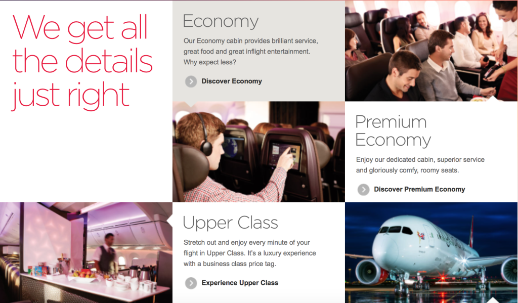 An example of USP has defined virgin's messaging